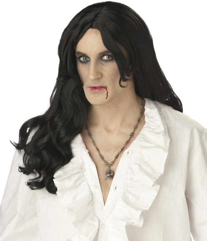 Old World Vampire (Black) Adult Wig