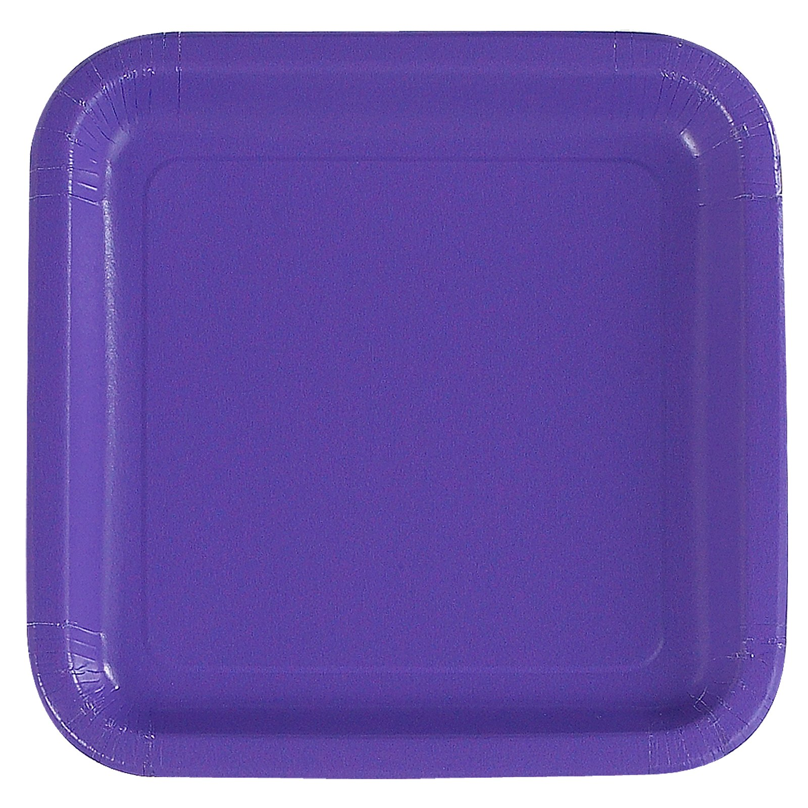 Purple Square Dinner Plates (12 count)